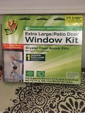 2 Duck Extra Large Patio Door Shrink Film or 4 - 4x6 Window insulation kits -