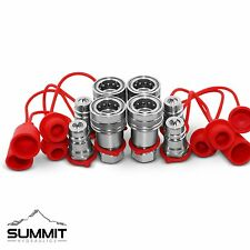 """1/2"""" Ag Hydraulic Quick Connect Couplers Couplings, Poppet Pioneer Style 4 Sets"""