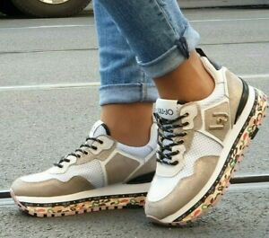 LIU JO Schuhe MAXI ALEXA - RUNNING SAND Damen plateau Sneaker Neu