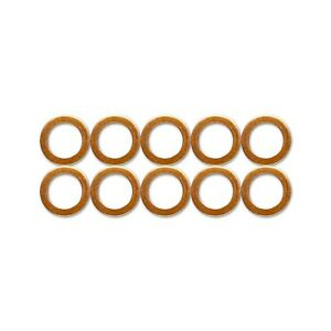 Copper Washers -German Made,DIN Spec 7603. Sump Plug, Fuel,Hydraulic,Brake Lines