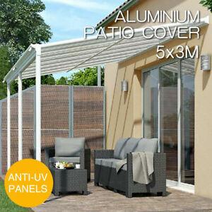 DIY Pergola Roofing Patio Cover Kit 5m x 3m Outdoor Veranda Roof Carport