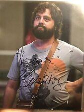 Zach Galifianakis The Hangover Signed 8x10 Photograph Rare Inscription Full Auto