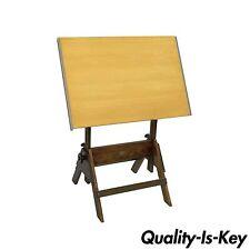 Vtg Anco-Bilt Wooden Adjustable Drafting Table Architect Artist Work Wood Desk