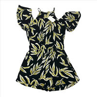 NWT Mud Pie Hayes Black Floral Romper Womens Small