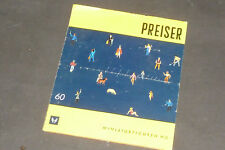 Alter Preiser  Katalog / Faltblatt 1960 Miniaturfiguren