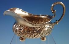 Repousse Sterling Silver Gravy Boat #502 (#1878) Likely Dominick & Haff