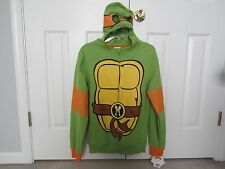 NWT Teenage Mutant Ninja Turtles Michelangelo Costume Zip Hoodie Mens Small S