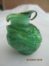 Antique Green Glass Minature Chicken Creamer