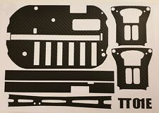 Tamiya TT-01 E Chassis Black carbon fibre wrap 1/10 touring car racing truck