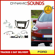 CTKFD34 Double Din Car Stereo Fascia Fitting Kit Dark Grey For Ford C-Max 2010>