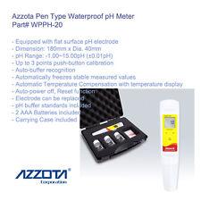 Azzota WPPH-20 Waterproof Pen Type pH Meter. pH Range: -1.00~15.00pH (±0.01pH)