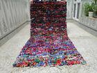 Moroccan Handmade Beni Ourain Rug Azilal Berber Cotton Fabric Carpet