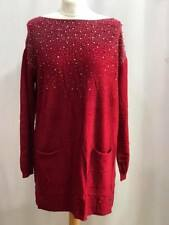 Women Jumper Sweater Pearls Italian Style Long sleeve Top Quality NEW  10 12 14