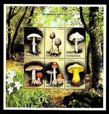 TANZANIA - 1999 - Funghi e animali selvatici provenienti da tutto il mondo - MNH