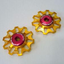TOKEN TK1701 CAMPY Rear Derailleur Jockey wheel / Pulley, 10T, Gold, A51
