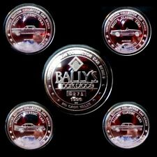 """HARD TO FIND / Bally's Park Place """"Classic Cars"""" Silver Set / Atlantic City. N.J"""