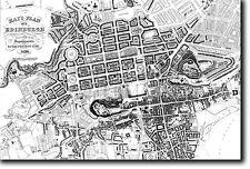 Mappa di Edimburgo dal 1836-STORICO VECCHIO VINTAGE FOTO STAMPA POSTER Scozia