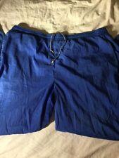 Men's VTG 90s Reebok Nylon Track Pants XL BLUE Windbreaker Joggers Pumps