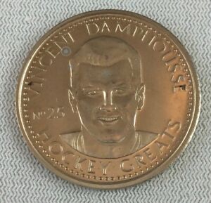 NHL 1996-97 Hockey Greats Coin #25-Vincent Damphousse-Montreal Canadiens