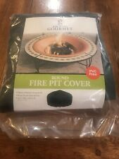 """New listing Grand Gourmet Black 40"""" Rip Stop Fire Pit Cover w/Elastic Hem Durable Material"""