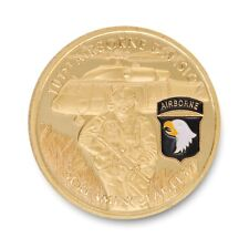 U.S. Army | 101st Airborne Division | Screaming Eagles | Gold Plated Coin
