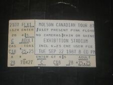 PINK FLOYD 1987 TICKET STUB EXHIBITION STADIUM TORONTO CANADA 9/22/87