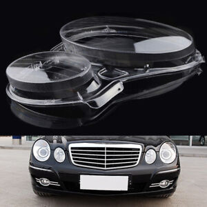 Right Side Headlight Lens Cover Cap Replacement for Mercedes Benz E Class W211
