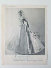 1955 women's Priscilla of Boston Catoir Satin wedding gown dress bride ad