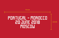 Portugal Vs MOROCCO World Cup 2018 Group Stage GOLD Morocco Home match details