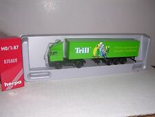 "Herpa #835008 D.A.F.Cab w/Tri Axle ""Trill"" Box Trailor Green H.O.Gauge"