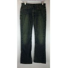 Vintage Women's Lucky Brand Bootcut Jeans Blue Green Distressed RARE Size 4 / 27