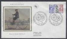 FRANCE FDC - 2290 2 MICHAUX VELOCIPEDE - BAR LE DUC 1 Octobre 1983-LUXE sur soie