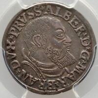 1541 German States Brandenburg-Prussia Albrecht 3 Groschen XF45 PCGS DARK TONED
