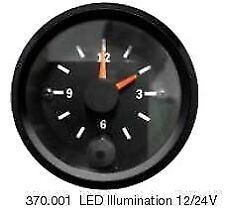 VDO Cockpit Vision New Style Clock with LED Illumination 52mm 12/24v