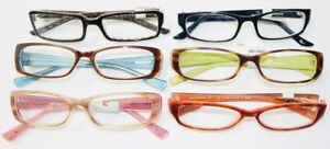 (LOT OF 6) BRAND NEW - I.LINE EYEGLASSES READERS +2.00 ASSORTED COLORS