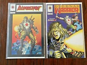 Bloodshot 1 Eternal Warrior 5 NM  first full app Valiant original owner 1992