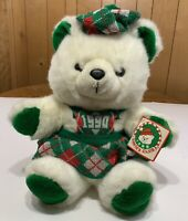 Santa's Club Christmas Bear 1990 Vtg Kmart Plush with tags