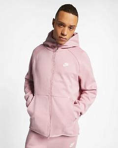 $130 NEW Nike TECH FLEECE sportswear ZIP UP Hoodie PLUM CHALK Pink 928483 516 L