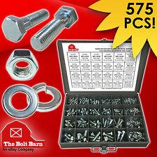 Grade 10.9 Metric Hex Cap Screws Hex Bolts, Nut, Washer Assortment Kit - 575 PCS