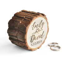 Personalized Ring Box Wooden Wedding Ring Holder Engraved Proposal Ring Box