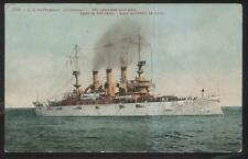 Postcard U.S. NAVY BATTLESHIP  U.S.S. LOUISIANA 1907