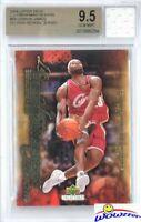 2003 UD Freshman #54 Lebron James RC+Game Used High School Jersey BGS 9.5 GEM