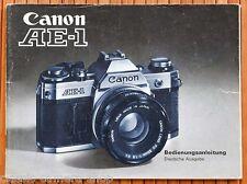 Kamera Bedienungsanleitung CANON AE-1 User Manual Anleitung (X2833