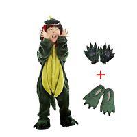 Kids Dinosaur Animal Costume Childrens One Piece Fleece Pajamas attach shoes paw