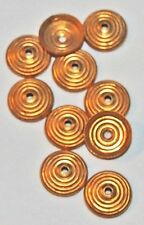 10 Vintage Art Deco Spiral Bead Caps Gold Plated high qual. antique