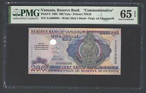 Vanuatu 200 Vatu 1995 P9 N 0000095 Commemorative Uncirculated Graded 65