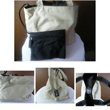 VTG POLO SPORT Ralph Lauren Toiletries Bag + Inside Bag Nylon Beige/Black 12x8x6