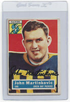 1956 PACKERS John Martinkovic signed card Topps #91 Autographed Green Bay