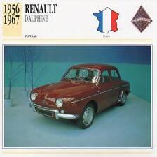1956-1967 RENAULT DAUPHINE Classic Car Photograph / Information Maxi Card