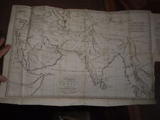1804 AN HISTORICAL DISQUISITION ON INDIA BY ROBERTSON FOLD OUT MAP BENGAL MADRAS